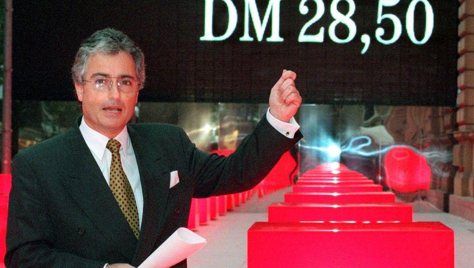 Ex-Telekom-Chef Ron Sommer kurz vor dem Börsengang 1996: Aktie dümpelt vor sich hin