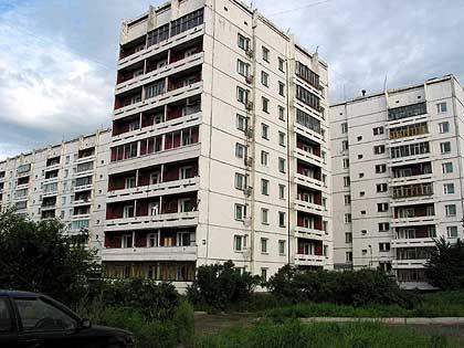 Wohnblocks in Irkutsk: Stadtmonster außerhalb des Zentrums