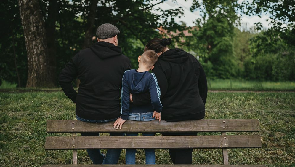 """Lukas and his parents: """"He's different - even wilder than the wild ones."""""""