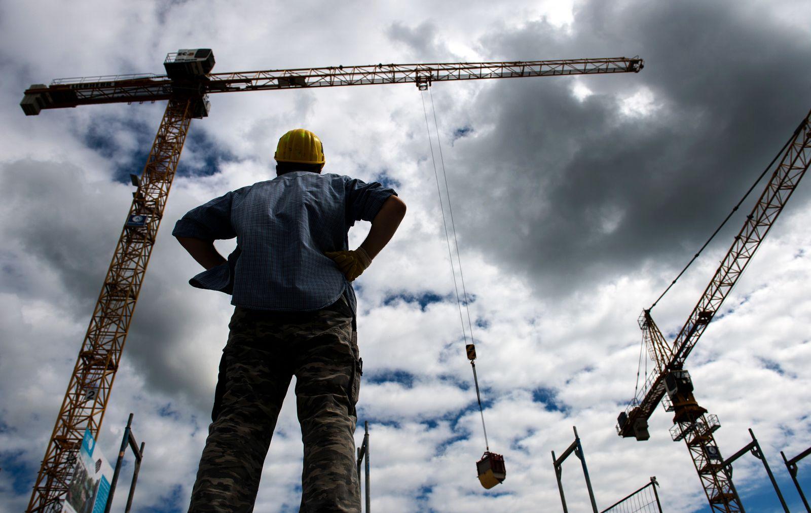 Deutschland / Konjunktur / Wirtschaft / Ifo-Index / Bau-Industrie / Kräne /Baustelle