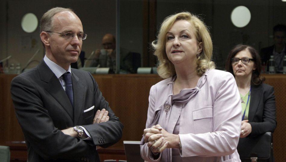 Finanzminister Frieden und Fekter: Die Drohungen werden schärfer