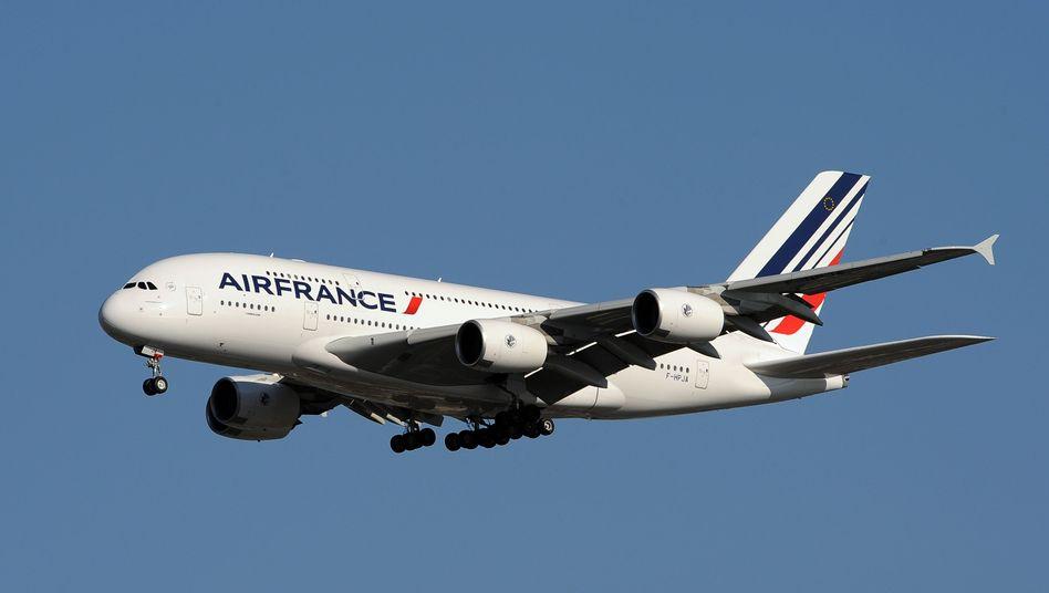 Nach elf Stunden muss der Pilot ruhen: Air-France-Airbus A380 (Archivbild)