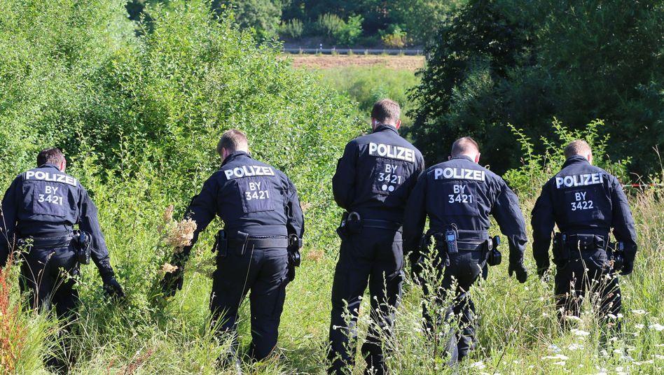 Polizisten bei Würzburg