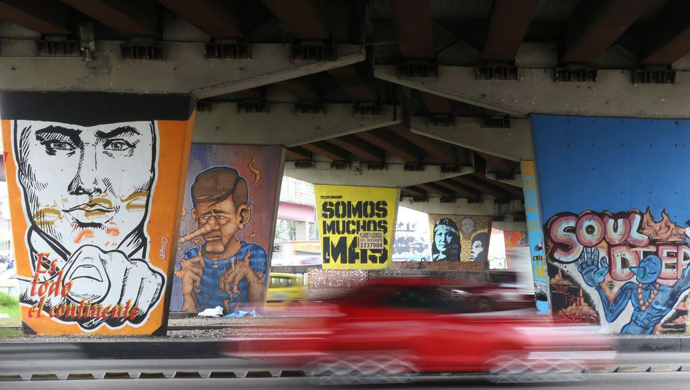 Kolumbien: Graffiti in Bogotá