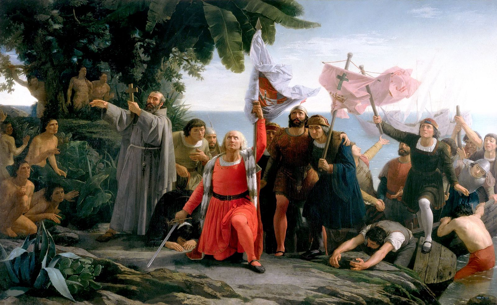 First Landing Of Christopher Columbus In America