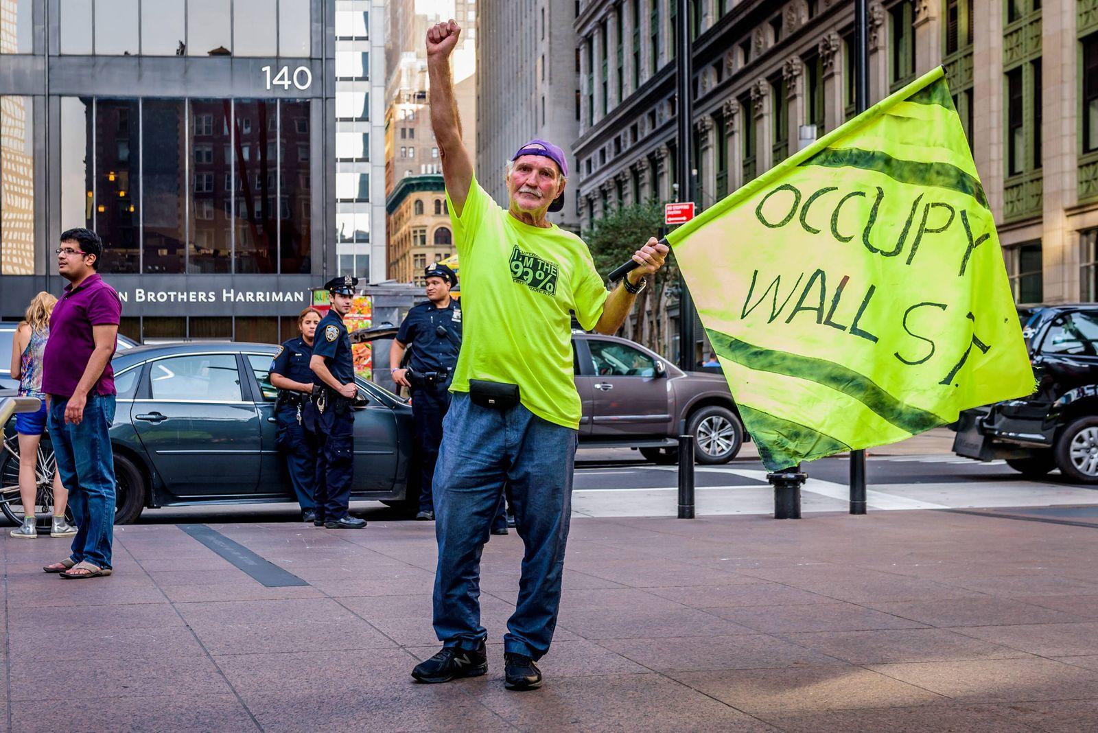 EINMALIGE VERWENDUNG NYC Occupy Wall Street