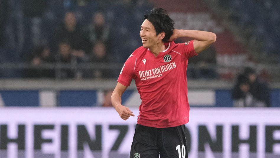 Genki Haraguchi traf für Hannover zum Sieg (Archivbild)