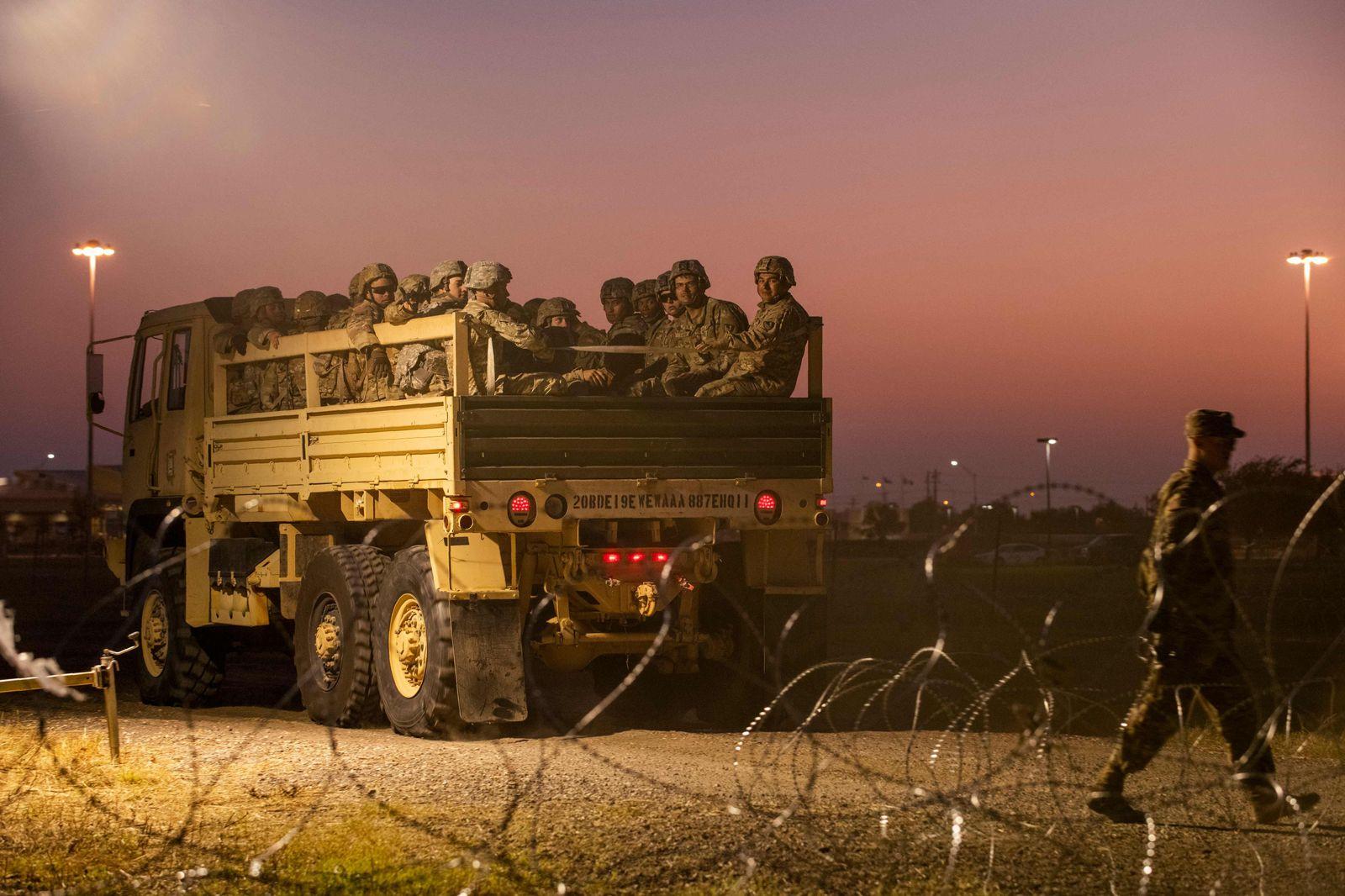 US-Soldaten an der mexikanischen Grenze