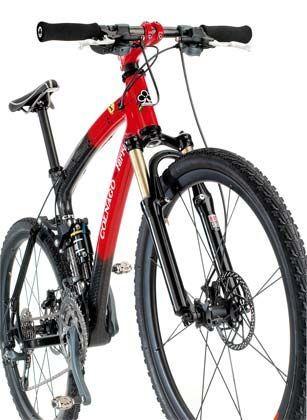 Ferrari- Mountainbike: Gehobene Ausstattung mit Stoßdämpfern und hydraulischen Bremsen