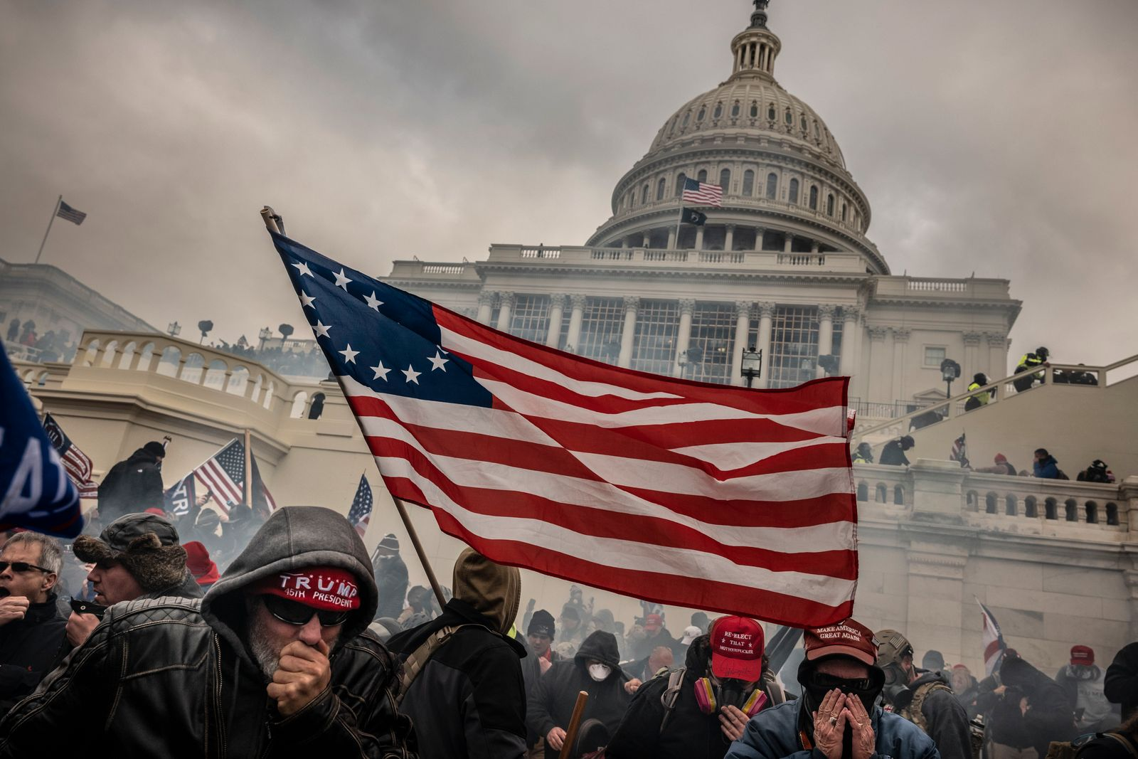 Pro-Trump Rally in Washington DC on Day of the Electoral College Count