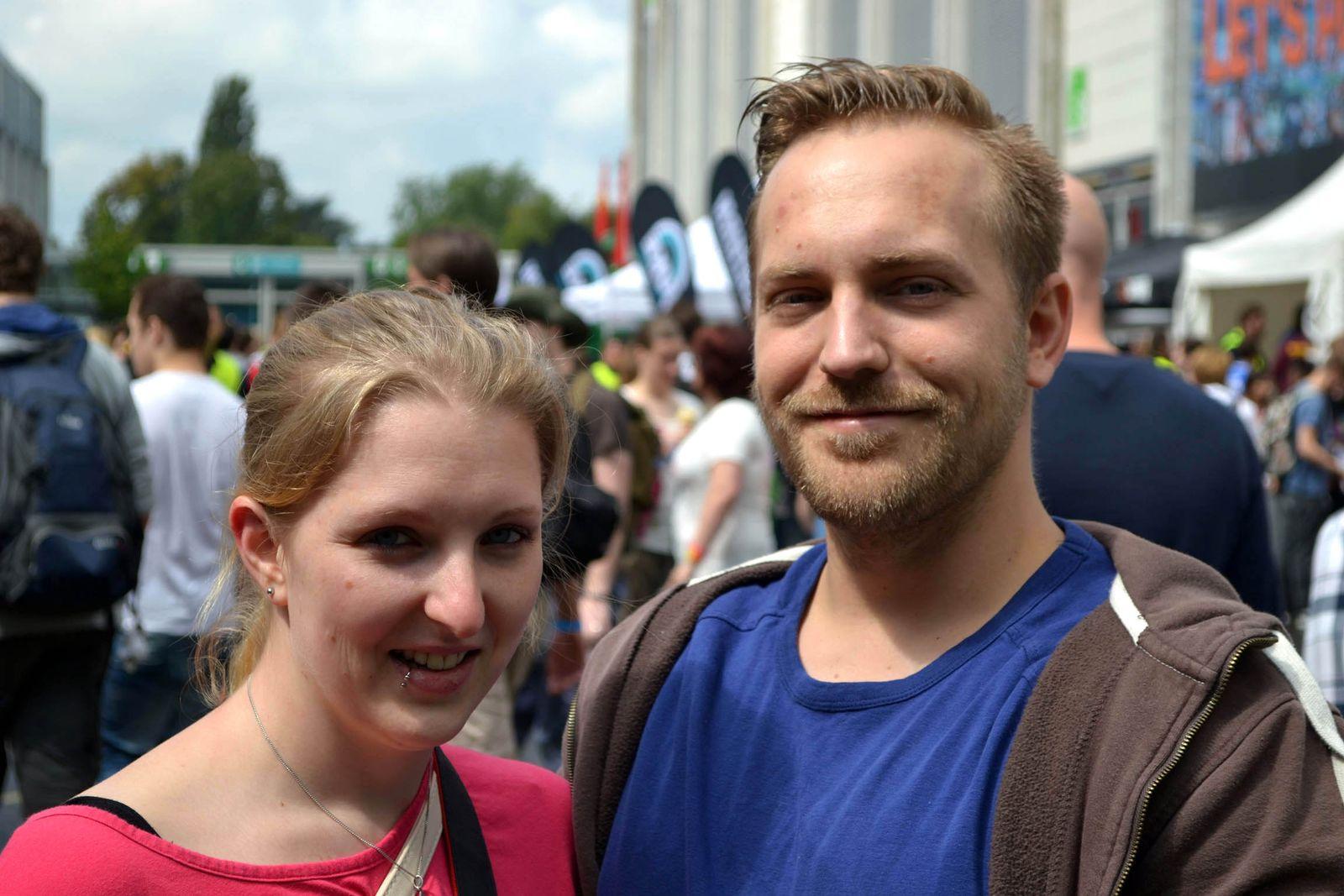 Pärchenfotos Gamescom/ Iris und Daniel