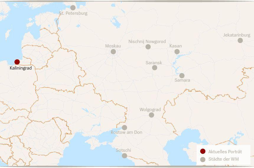 Karte Russland WM Städte Kaliningrad
