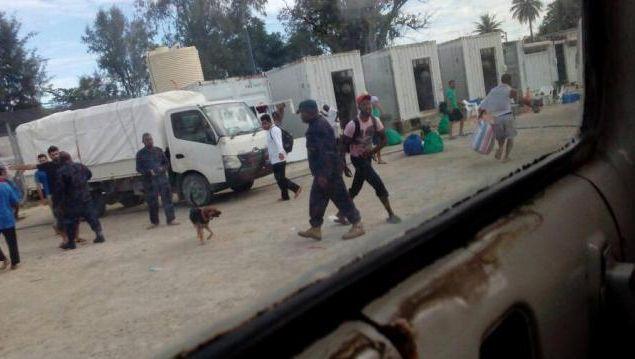 Einsatz im Lager auf Manus
