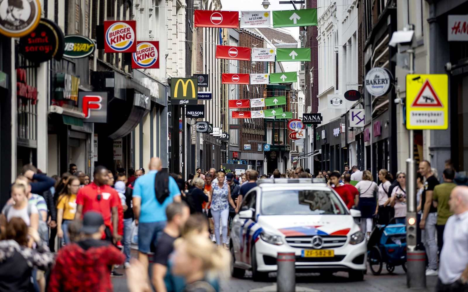 Extra measures on covid-19 pandemic in the center of Amsterdam, Netherlands - 23 Jul 2020
