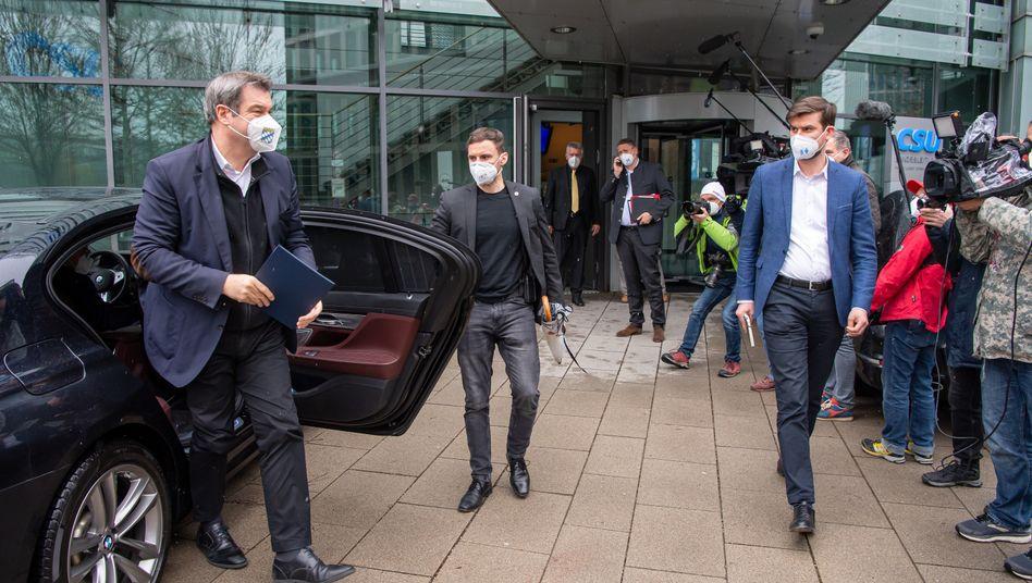CSU-Chef Söder vor Präsidiumssitzung in München: »Personen spielen nun mal eine zentrale Rolle«