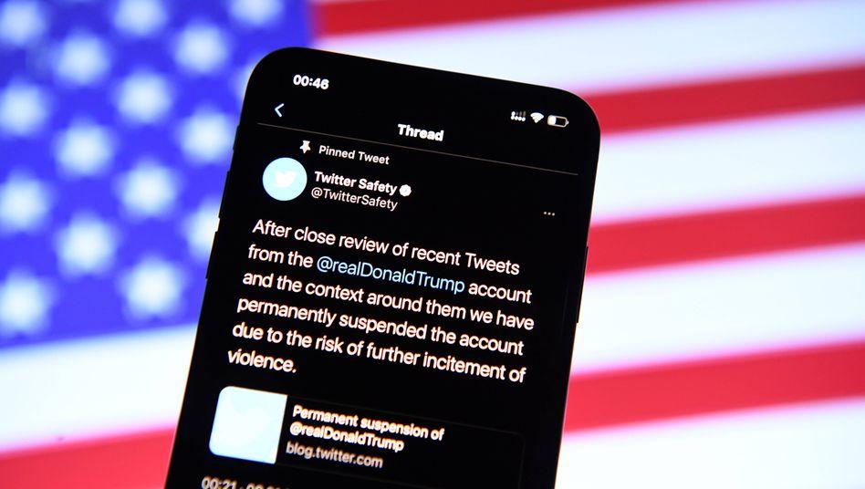 Twitters Begründung für die Sperre von Trumps Account: »Risiko einer weiteren Anstiftung zur Gewalt«