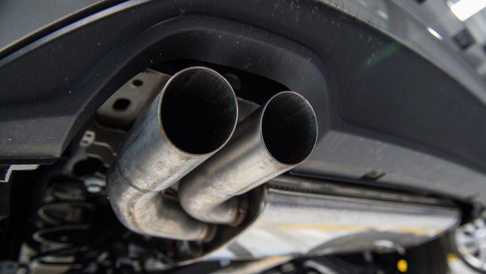 Auspuff eines Golf-Diesel