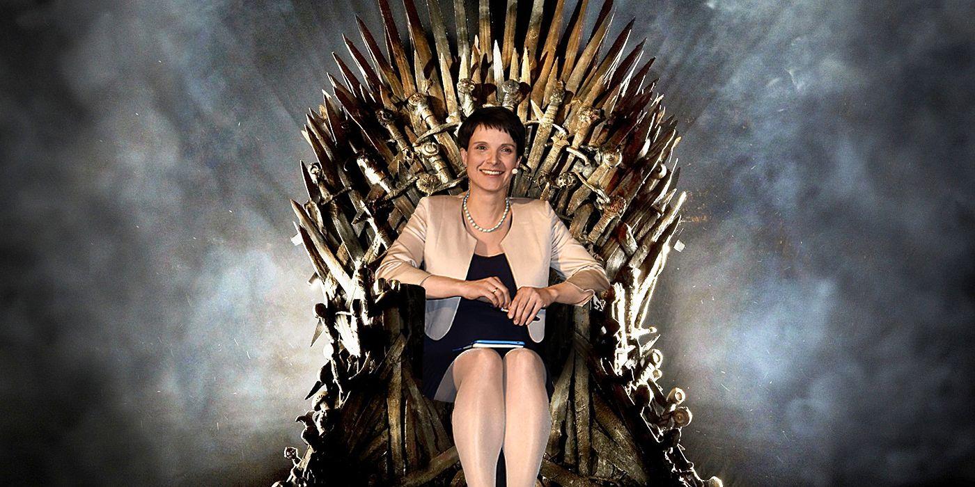 EINMALIGE VERWENDUNG Game of Thrones/ Frauke Petry MONTAGE