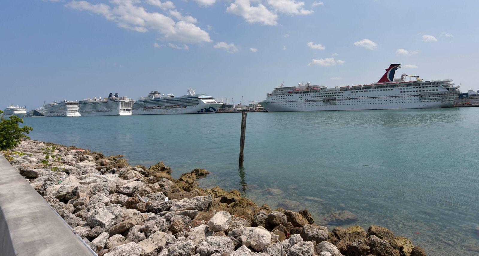 April 9, 2020, Miami Beach, Florida, United States Of America: MIAMI BEACH, FL - APRIL 09: COVID-19: As the Cruise ship