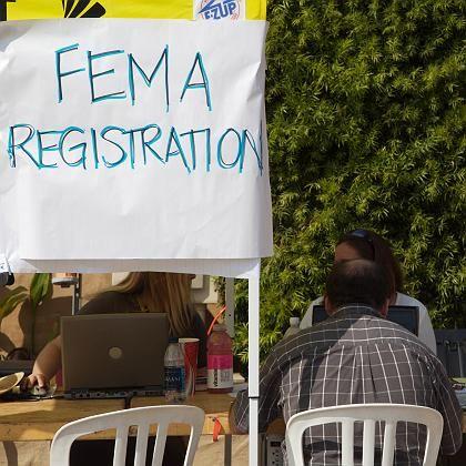 Fema-Registrierungsstelle im kalifornischen Del Mar: Gefakte Pressekonferenz hat Konsequenzen