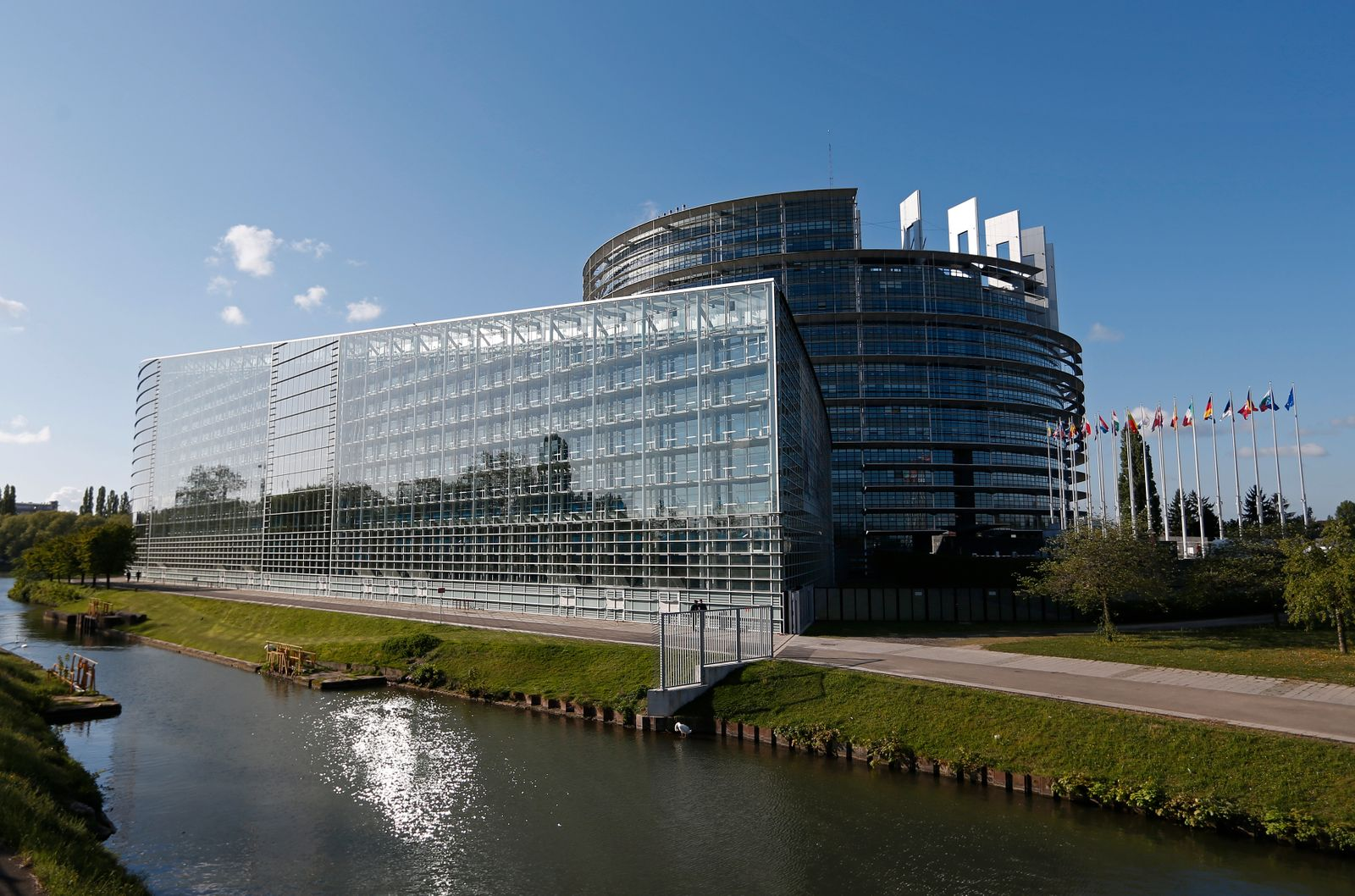 General view of the European Parliament building in Strasbourg