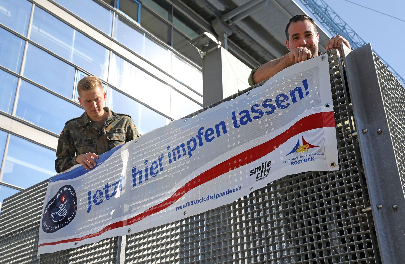 Coronavirus - Impfaktion im Ostseestadion Rostock