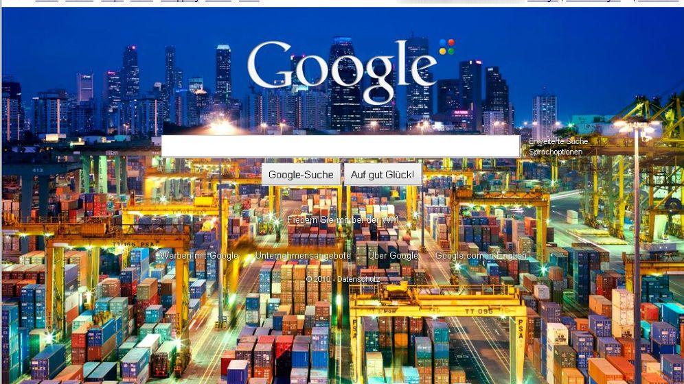 Hintergrundbilder bei Google: Eine Fototapete für die Suchmaschine