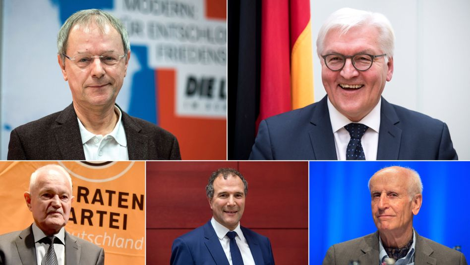 Christoph Butterwegge/ Frank-Walter Steinmeier / Engelbert Sonneborn / Alexander Hold / Albrecht Glaser
