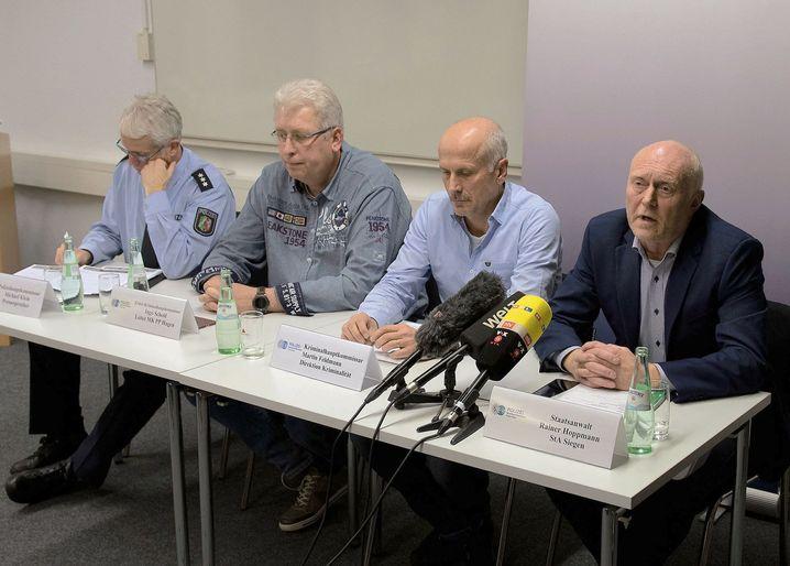 Pressekonferenz von Staatsanwaltschaft und Mordkommission des Polizeipräsidiums Hagen