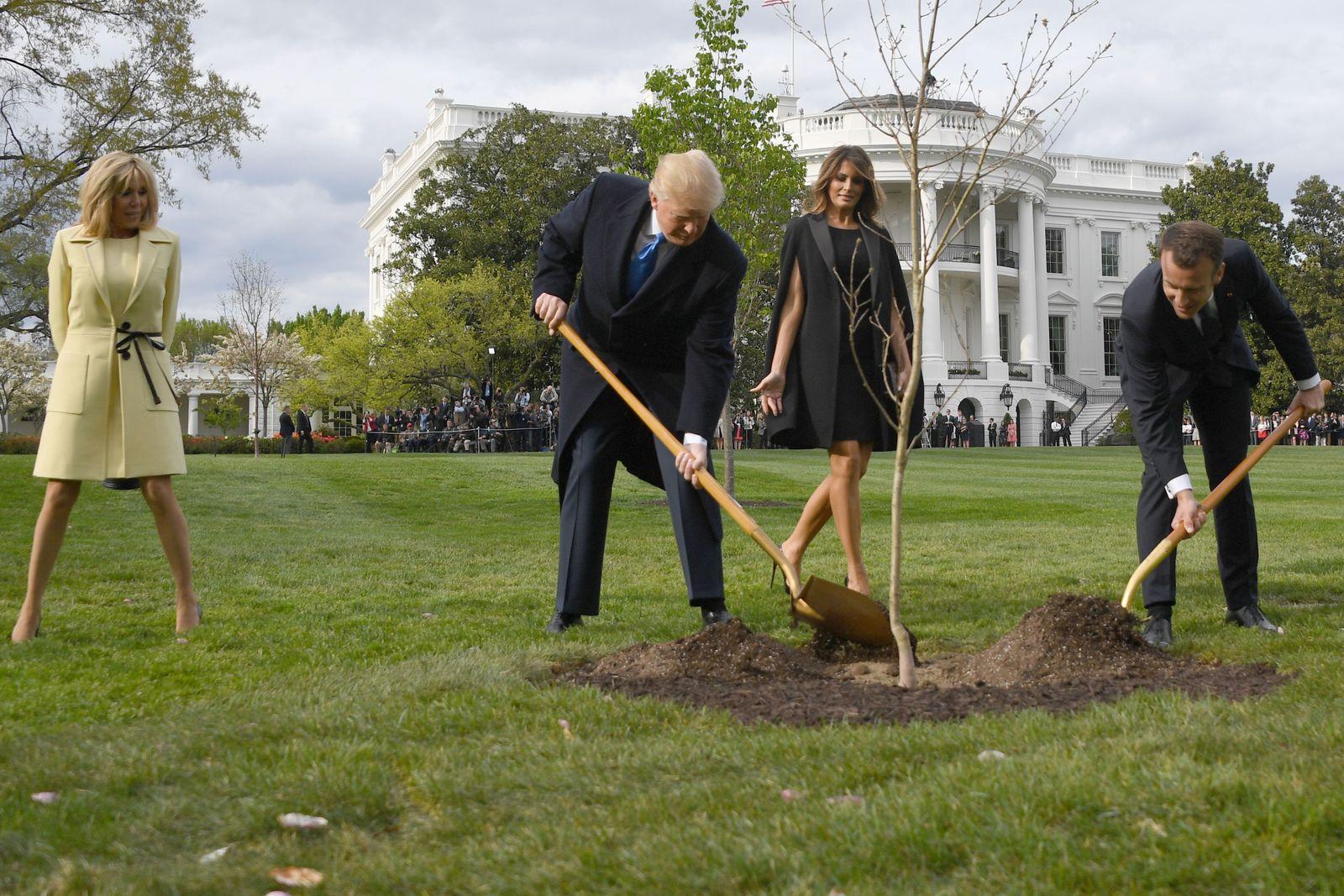 Trump/ Macron/ Washington