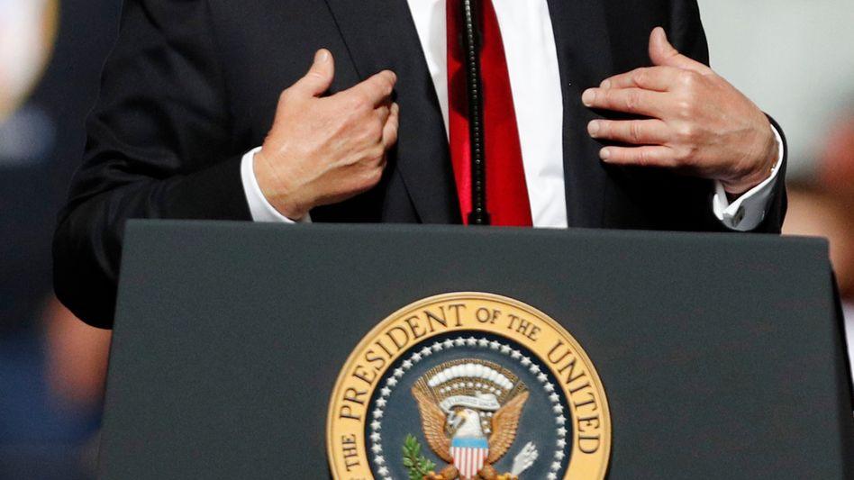 Donald Trump bei Wahlkampfrede in West Virginia