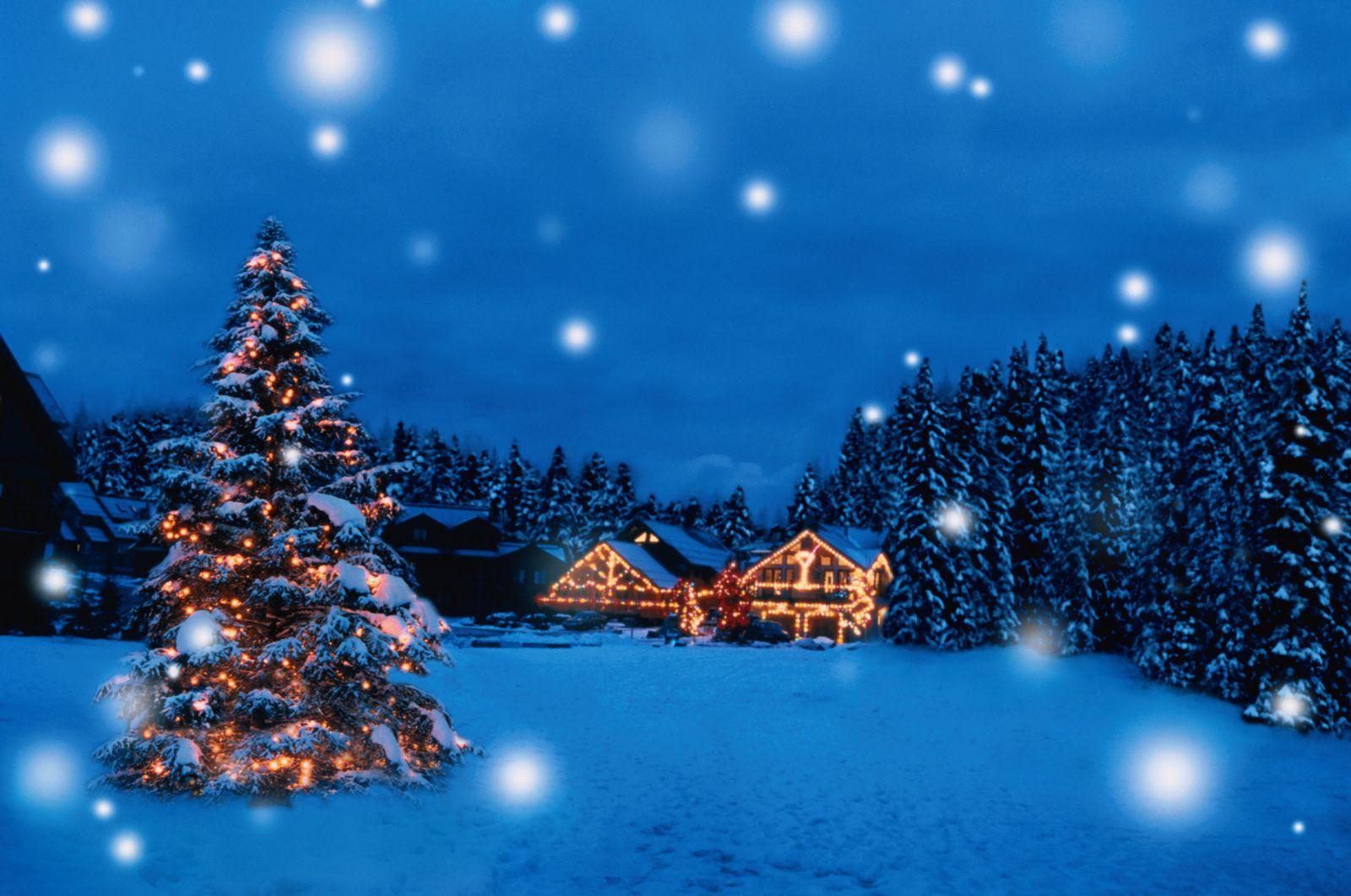 NICHT MEHR VERWENDEN! - SYMBOLBILD / Weiße Weihnachten / Schnee / Winter
