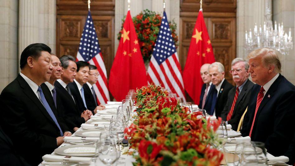 Regierungschefs Xi, Trump