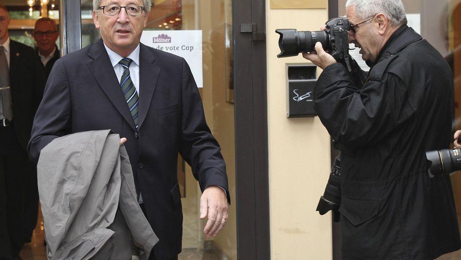 Luxemburgs Premierminister Juncker vor dem Wahllokal: 33,6 Prozent für die CSV