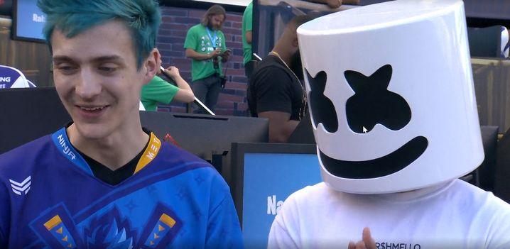 Ninja (links) und Marshmello