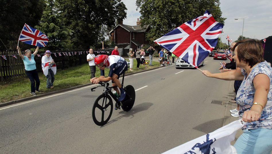 Bradley Wiggins gewann bei den Olympischen Sommerspielen 2012 die Goldmedaille im Einzelzeitfahren