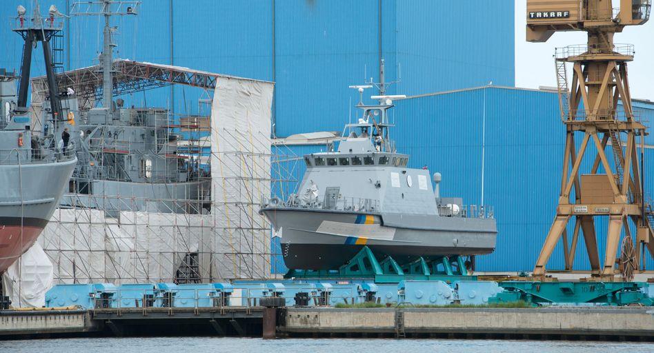 Küstenschutzboot für Saudi-Arabien auf der Peene-Werft der Lürssen-Gruppe