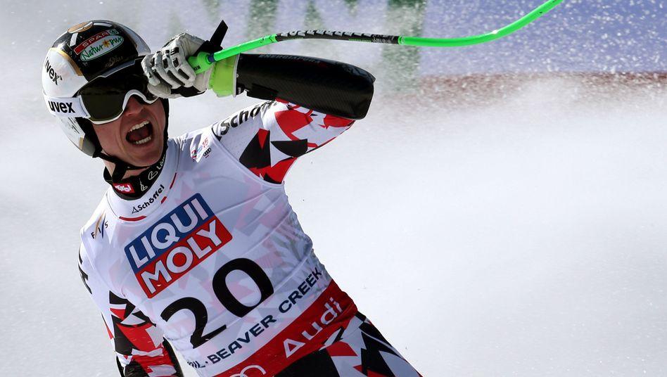 Der Österreicher Hannes Reichelt: Gold vor Dustin Cook aus Kanada.