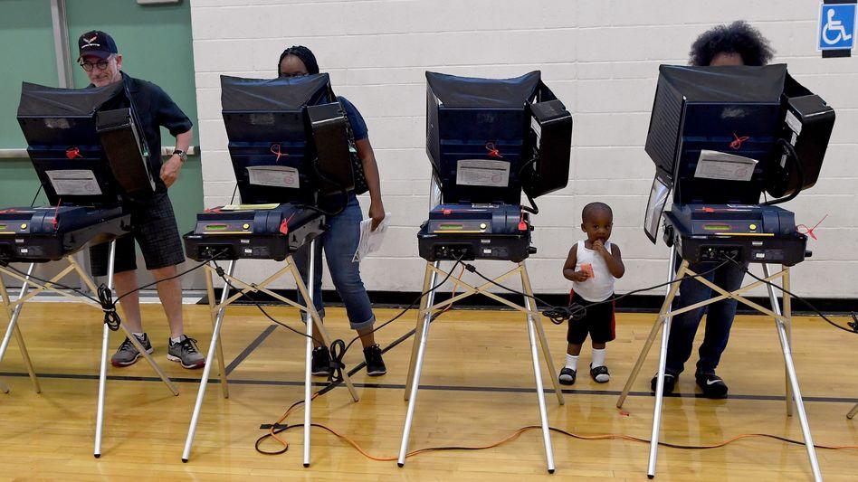 Wahlcomputer bei der US-Wahl (in Las Vegas)