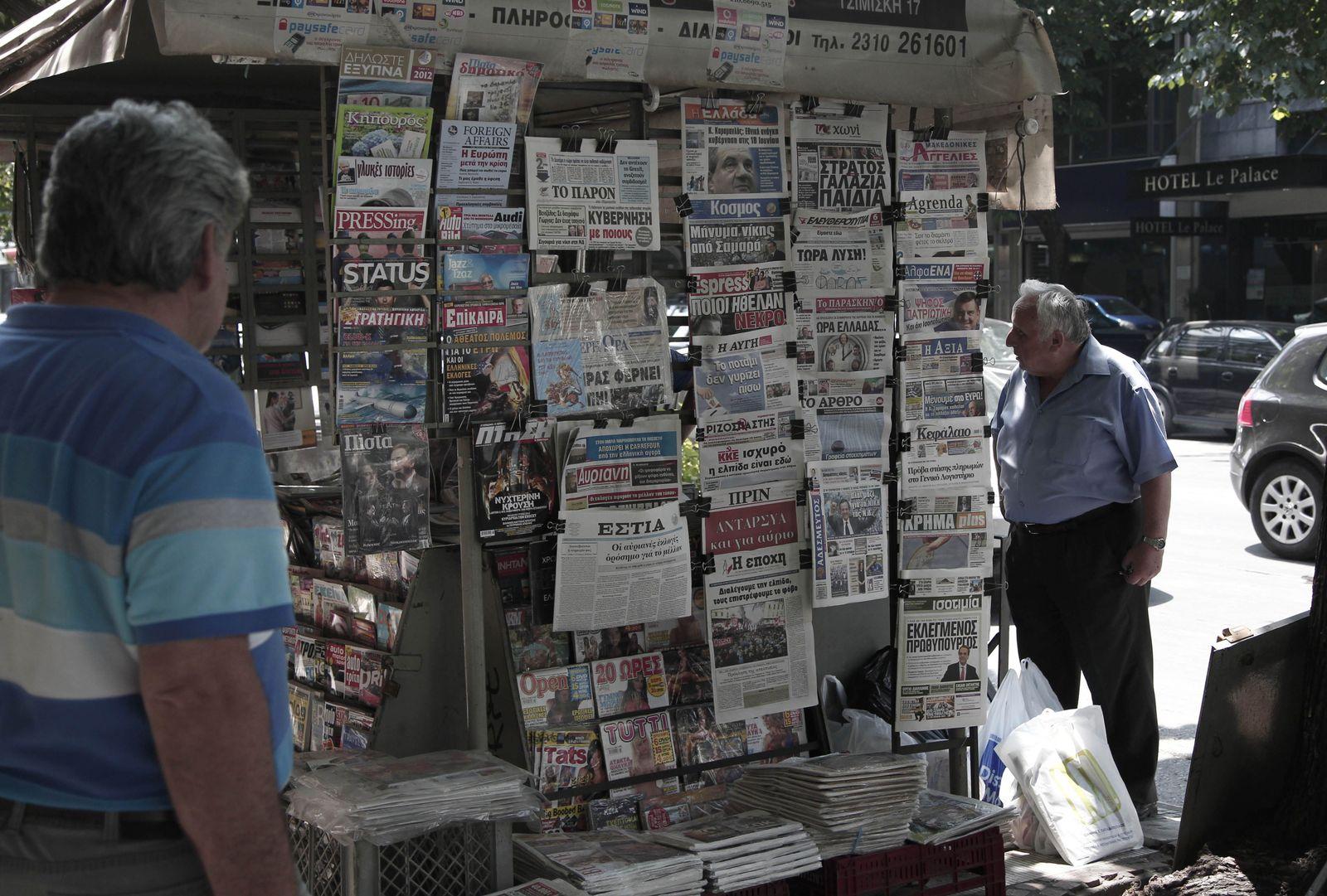 Griechenland/ Wahlen/ Zeitschriften