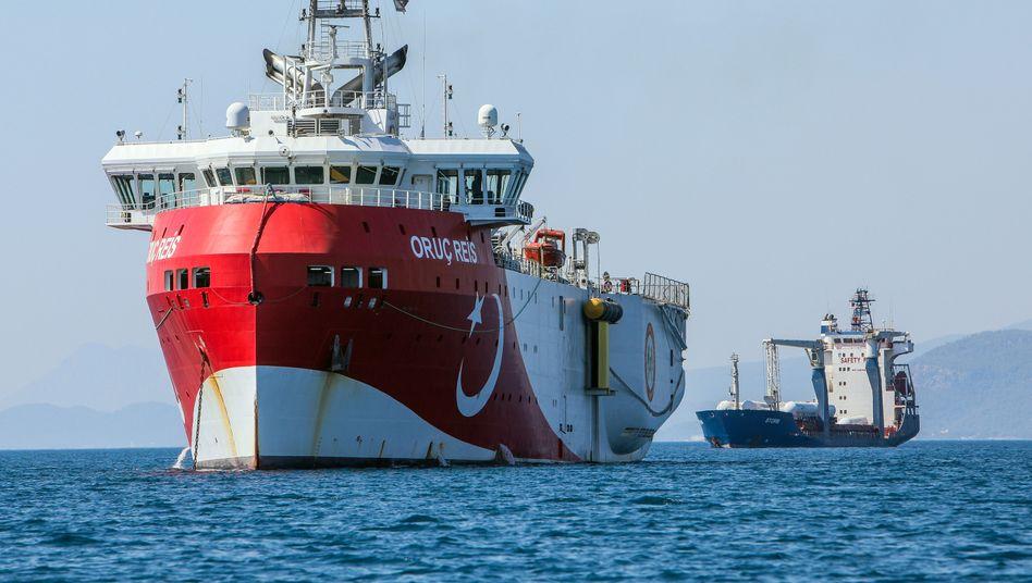 """Forschungsschiff """"Oruc Reis"""" (Archivfoto): Streit um Gasvorkommen im Mittelmeer"""