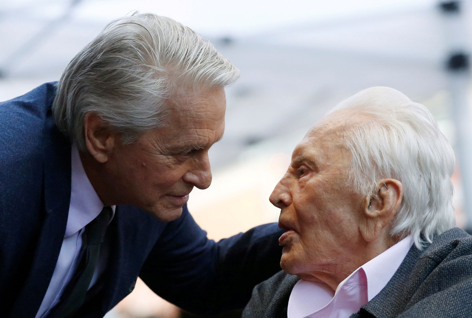 FILE PHOTO: Actor Michael Douglas receives a star on Hollywood Walk of Fame