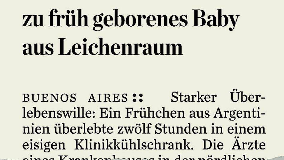 Aus dem »Hamburger Abendblatt«