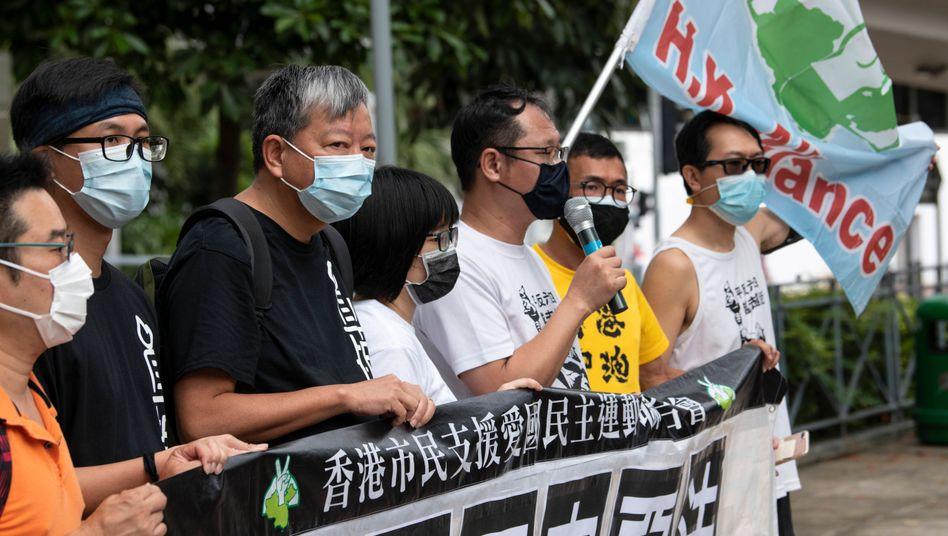 Auftakt zu den Gedenkveranstaltungen ans Tiananmen-Massaker in Hongkong am 24. Mai - nun soll es keine weiteren Zusammenkünfte geben.