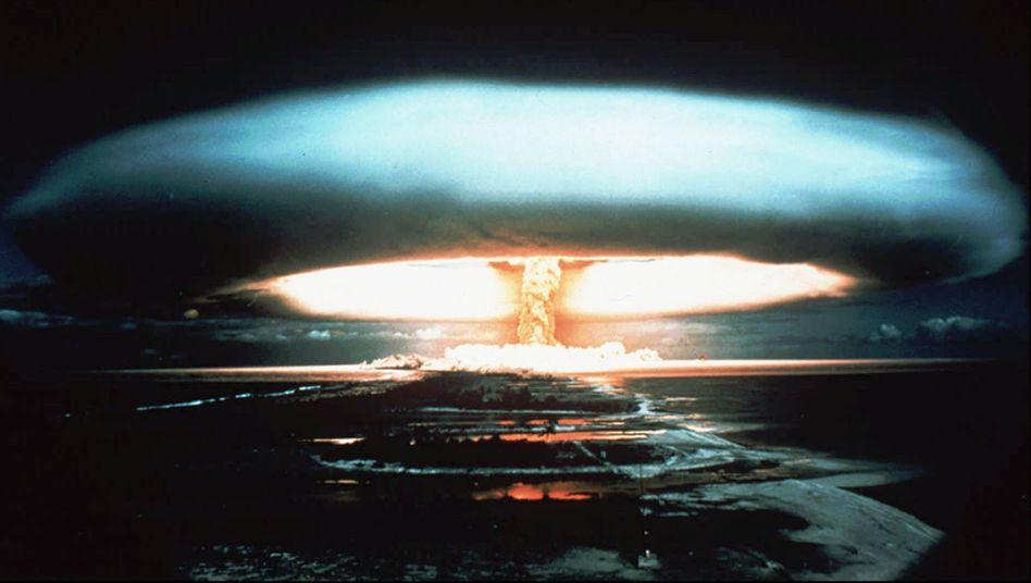 Atombombentest im Jahr 1971, Mururoa-Atoll