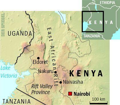 Map of Western Kenya