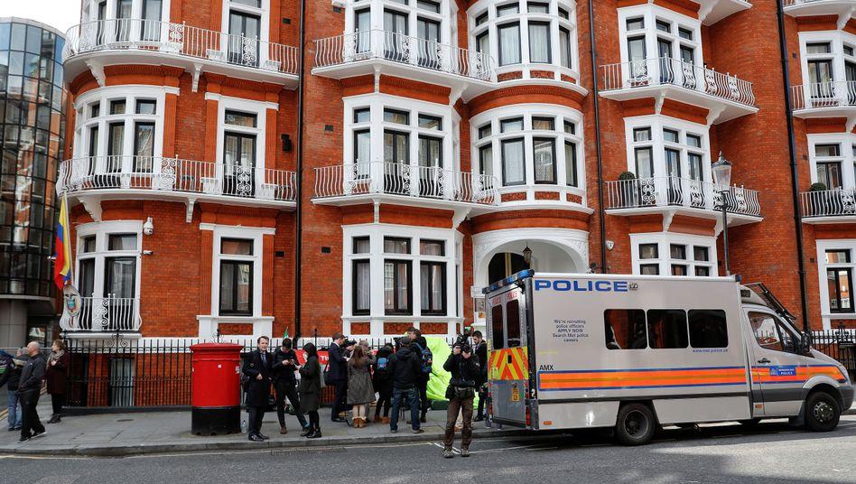 Ecuadors Botschaft in London - hier wurde Assange festgenommen