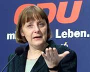 Kämpft mit Erfolg um die Basis: Angela Merkel
