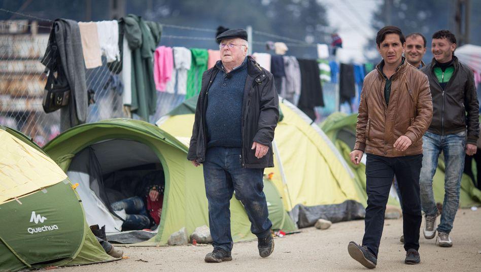 Ex-Bundesarbeitsminister Blüm in Idomeni