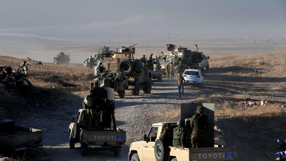 Peschmerga-Kämpfer rücken näher auf Mossul vor